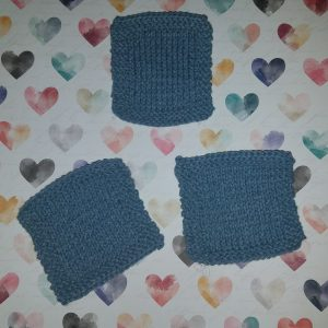 square and simple coaster free knitting pattern