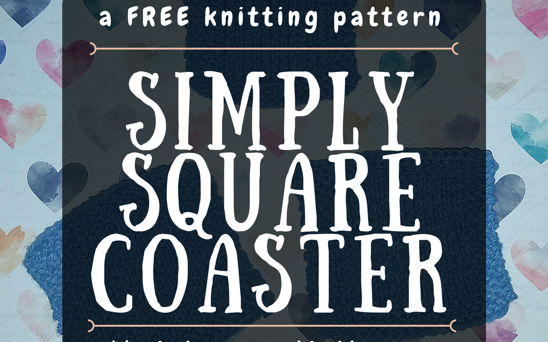Simply Square Coaster, Free Knitting Pattern